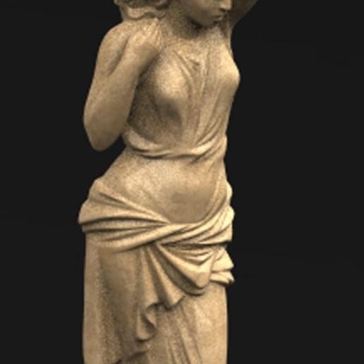 Télécharger fichier OBJ gratuit Modèle 3D de marbre décoratif 5 femme en corbeille • Modèle pour impression 3D, DavidG7