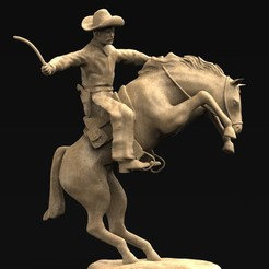 Download free STL file Cowboy 3D Model, DavidG7