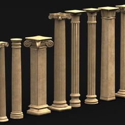 Download free STL file Pack Columns 3D Model • 3D printing template, DavidG7