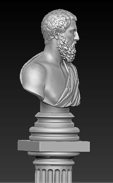 Roman_bust_01.jpg Download free OBJ file Roman Bust 3D Model • 3D print object, DavidG7