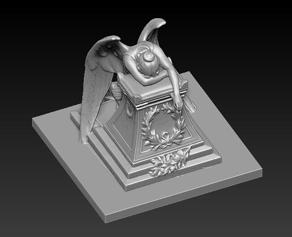 Angel_02.jpg Download free OBJ file Angel Statue 2 3D Model • 3D printer template, DavidG7