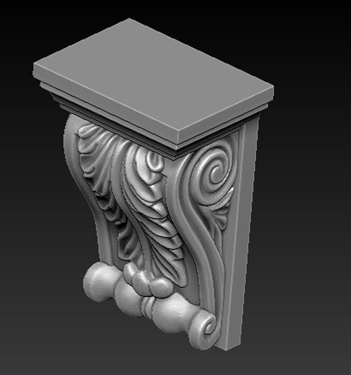 Architectural_Decorative_04.jpg Télécharger fichier OBJ gratuit Modèle 3D du corbeau architectural décoratif 8 • Plan pour impression 3D, DavidG7