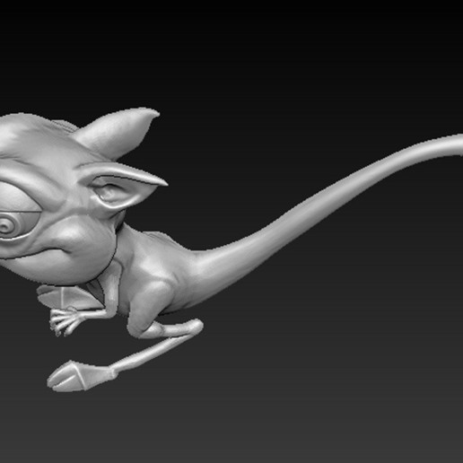 Cgaracter_04.jpg Download free OBJ file Character Kangaroo 3D Model • Object to 3D print, DavidG7