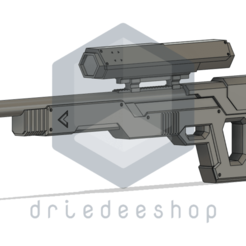 Knipsel (1).png Download STL file Cyberpunk Themed Sniper • 3D print object, DrieDeeShop