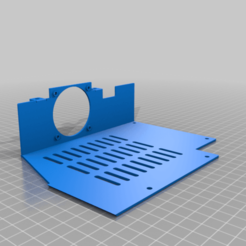 bottom_cover-1.png Download free STL file bottom cover u30pro / lk4pro with 50mm fan support • 3D printable template, lucajust93