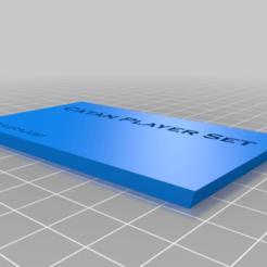 box_catan_top.png Download free STL file Box for Catan Player set • 3D printing template, lucajust93