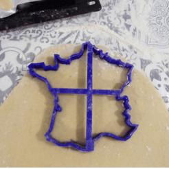 image1.png Download STL file Biscuit cutter, cookie cutter, Moule de France,Gabarits france • 3D printer model, alainsame