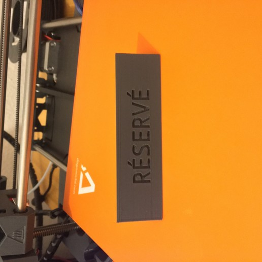 Download free 3D printing files PLATE : RESERVED, Toto3D