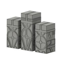 Hnefatafl_totem.jpg Download free STL file Hnefatafl pieces • 3D print template, rostolaza