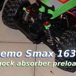 smax-absorber.jpg Download free STL file RC car 1/16 shock absorber preload • 3D print design, SgaboLab