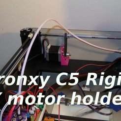 sglab-P8150551a.JPG Download free STL file Tronxy C5 rigid Y motor holder • 3D print object, SgaboLab