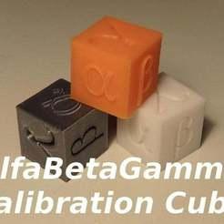 Download free 3D printing models AlfaBetaGamma 20mm Calibration Cube, SgaboLab
