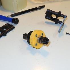Download free STL GT2 pulley for differential gears buggy scale 1:8, SgaboLab