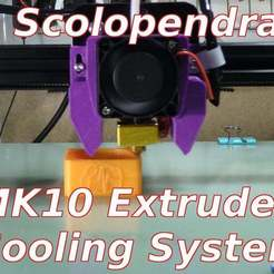 Scolopendra-Cooling-System.jpg Download free STL file MK10 Extruder Cooling Scolopendra - Tronxy X3 X3S X5S • 3D printing design, SgaboLab