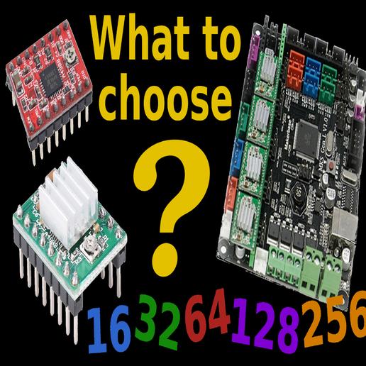 Télécharger fichier STL gratuit Microstep ... que choisir • Objet pour impression 3D, SgaboLab