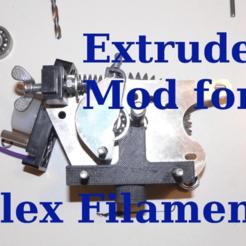Télécharger fichier impression 3D gratuit 3Drag / k8200 Extruder Flex Filament mod, SgaboLab