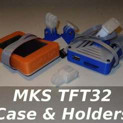 sg-mkstft32.jpg Download free STL file MKS TFT32 Case & Holders • 3D printer model, SgaboLab