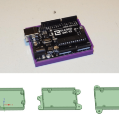 Download free 3D printer files Arduino Bumper / Holder, SgaboLab