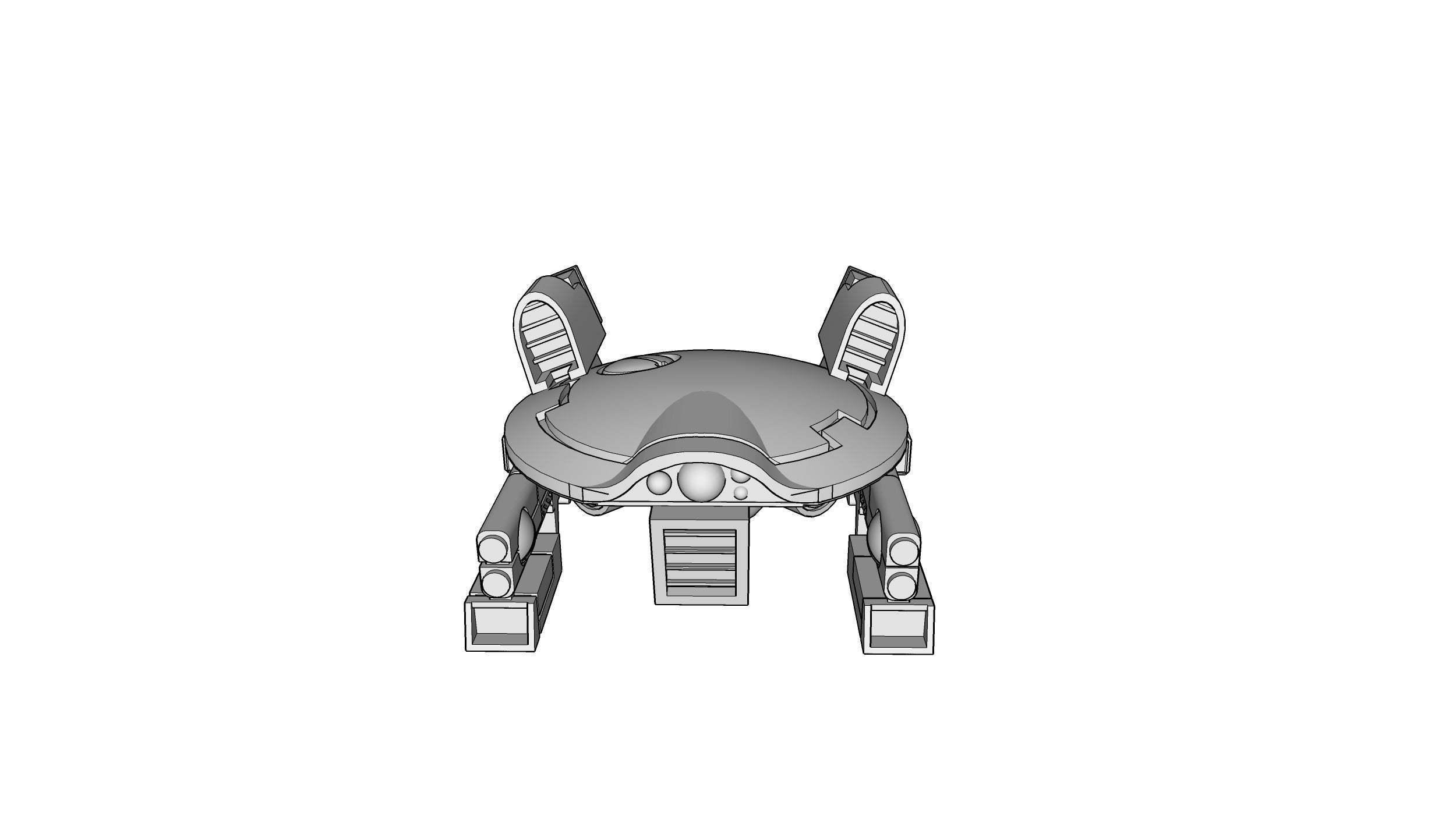 DronAC-Gun-v2_2.jpg Download free OBJ file Gun Drone AC • 3D printable object, ACavalle