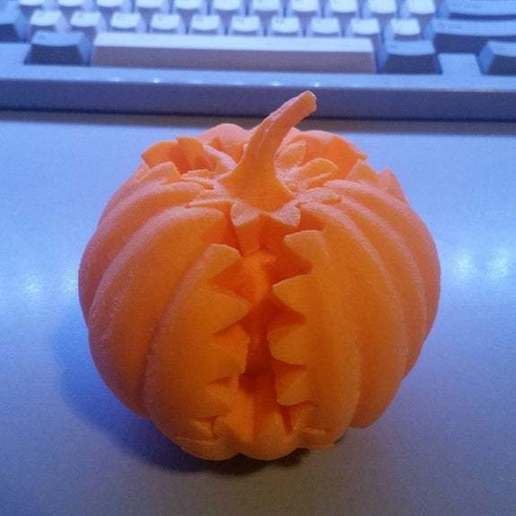 Download free 3D printer designs Gear Pumpkin, redpawfx