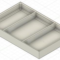 Télécharger plan imprimante 3D gatuit BOITE 3 COMPARTIMENTS, turok59660