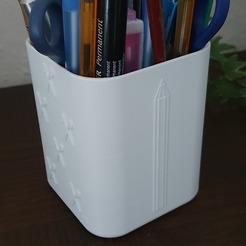 pot a crayon.jpg Download STL file Pencil cup • 3D printable model, jonath261298