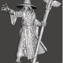 chronomancer.jpg Download STL file Frostgrave Chronomancer • 3D printable object, dmcclellan45
