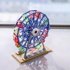 Download free STL file Grande roue rotative colorée • 3D printable object, eteeob