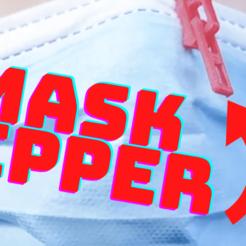 Mask Zipper thumbnail.png Télécharger fichier STL gratuit Fermeture éclair du masque • Plan à imprimer en 3D, espire020
