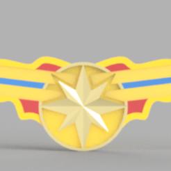 Captain_Marvel_Front.PNG Télécharger fichier STL gratuit Capitaine Marvel Ear Saver • Objet imprimable en 3D, espire020
