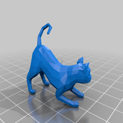 Download free 3D printing templates Low poly Cat, diego_66