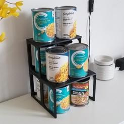 support1.jpg Download STL file Canned Food shelving unit for cleaner pantry • 3D printable design, Kaiba
