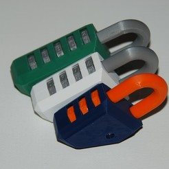 Download free 3D printer files Customizable Permutation Lock Kit (Combination Lock), plasticpasta
