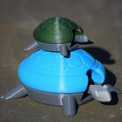 DSC_0117.JPG Download free STL file Bobblehead Turtle • 3D printer object, plasticpasta