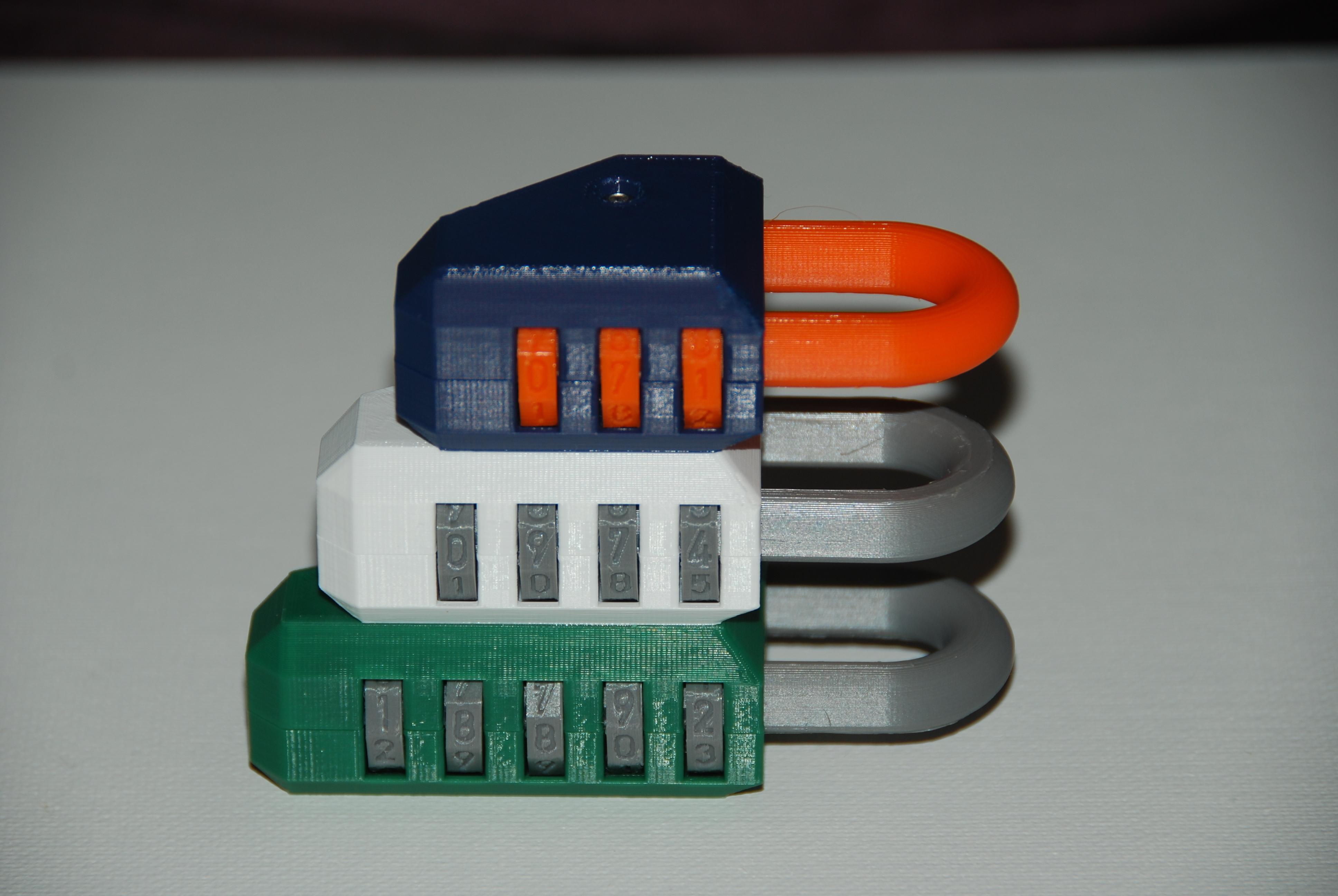 DSC_0734.JPG Télécharger fichier STL gratuit Kit de verrouillage de permutation personnalisable (verrouillage à combinaison) • Objet pour impression 3D, plasticpasta