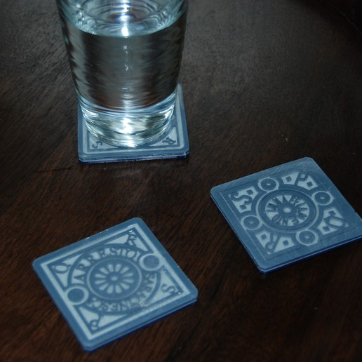 Download free STL file Roman Utility Coasters • 3D print design, plasticpasta