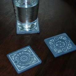 Download free 3D printer designs Roman Utility Coasters, plasticpasta