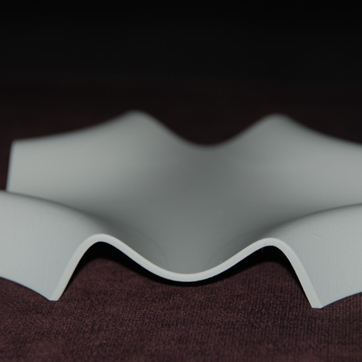 DSC_0830.JPG Download free STL file Mathematical Wave Dish • 3D print design, plasticpasta