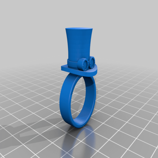 Download free STL file Top hat ring with goggles steampunck - Top hat ring with steampuck/geek glasses • 3D printing model, MickeyManu