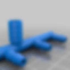 Wasserschlauch1auf3_v2.stl Télécharger fichier STL gratuit Electrovanne à 4 voies, connecteur de tuyau, adaptateur de mise à la terre pour l'arrosage des fleurs • Modèle pour impression 3D, Thymos