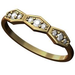 Diamond-anniversary-ring-00.JPG Télécharger fichier 3MF Modèle d'impression 3D de la bague d'anniversaire du diamant • Plan imprimable en 3D, RachidSW