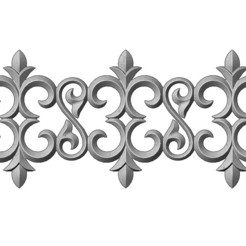 F-M-3-00.JPG Download 3MF file Floral scroll pattern relief strip  • 3D printing model, RachidSW