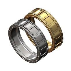 film strip ring-00.JPG Download 3MF file Film strip ring 3D print model • 3D printer template, RachidSW