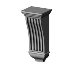 Reeded Renaissance Transitional Corbel-14-00.JPG Télécharger fichier 3MF Modèle d'impression en 3D de l'encorbellement et de la console de la Renaissance de Reeded • Plan à imprimer en 3D, RachidSW