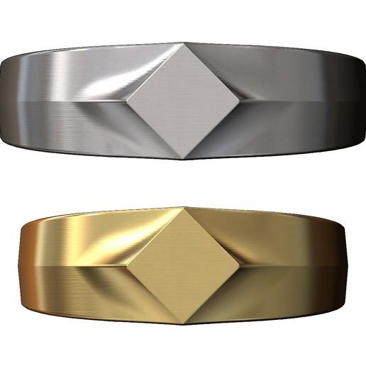 SQUARE-SIGNET-05.JPG Download 3MF file Simple quadrangle flat top signet ring 3D print model • 3D printable model, RachidSW