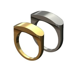 Rounded-top-Slot-signet-00.JPG Download 3MF file Slot rounded top signet ring 3D print model • 3D printer model, RachidSW