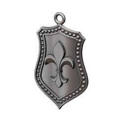 lys-sh-2-00.JPG Download 3MF file Fluer de Lis Shield Pendant N02 3D print model • Object to 3D print, RachidSW