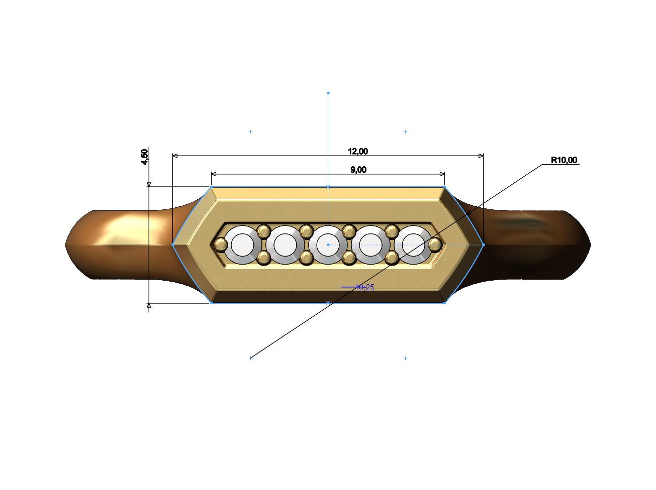 Hexa-signet-pavé-06.JPG Download 3MF file Hexagonal slot low profile signet ring 3D print model • 3D printable model, RachidSW