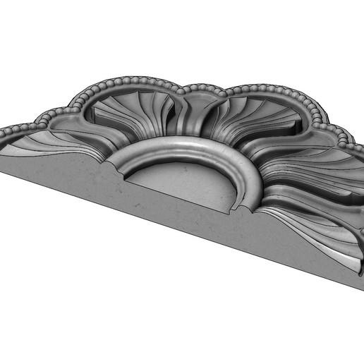 rosette5-00000.JPG Download 3MF file Rosette plaster molding N01 3D print model • 3D printable model, RachidSW