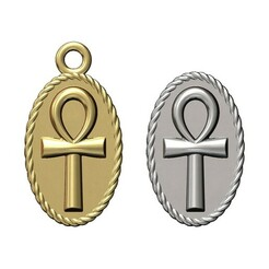 ANKH-ROPE-PENDANT-00.JPG Download 3MF file ANKH eternal key of life rope pendant and charm 3D print model • 3D printer design, RachidSW